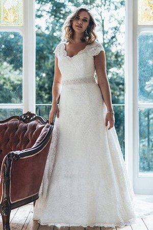 1f4545b651fb Abito da Sposa Cappellino Spazzola Treno con Perline Lusso con Manica Corte
