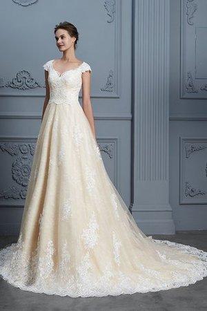 0d974557242e Abito da sposa con ricamo con manica corte delicato a sala moderno sensuale