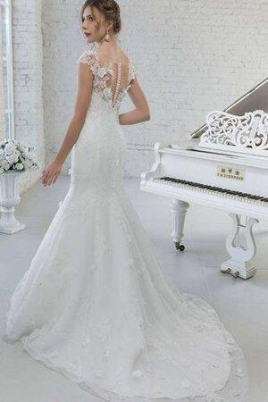 Abito da Sposa Cappellino Elegante Spazzola Treno con Manica Corte con  Perline 2b2e3a74900